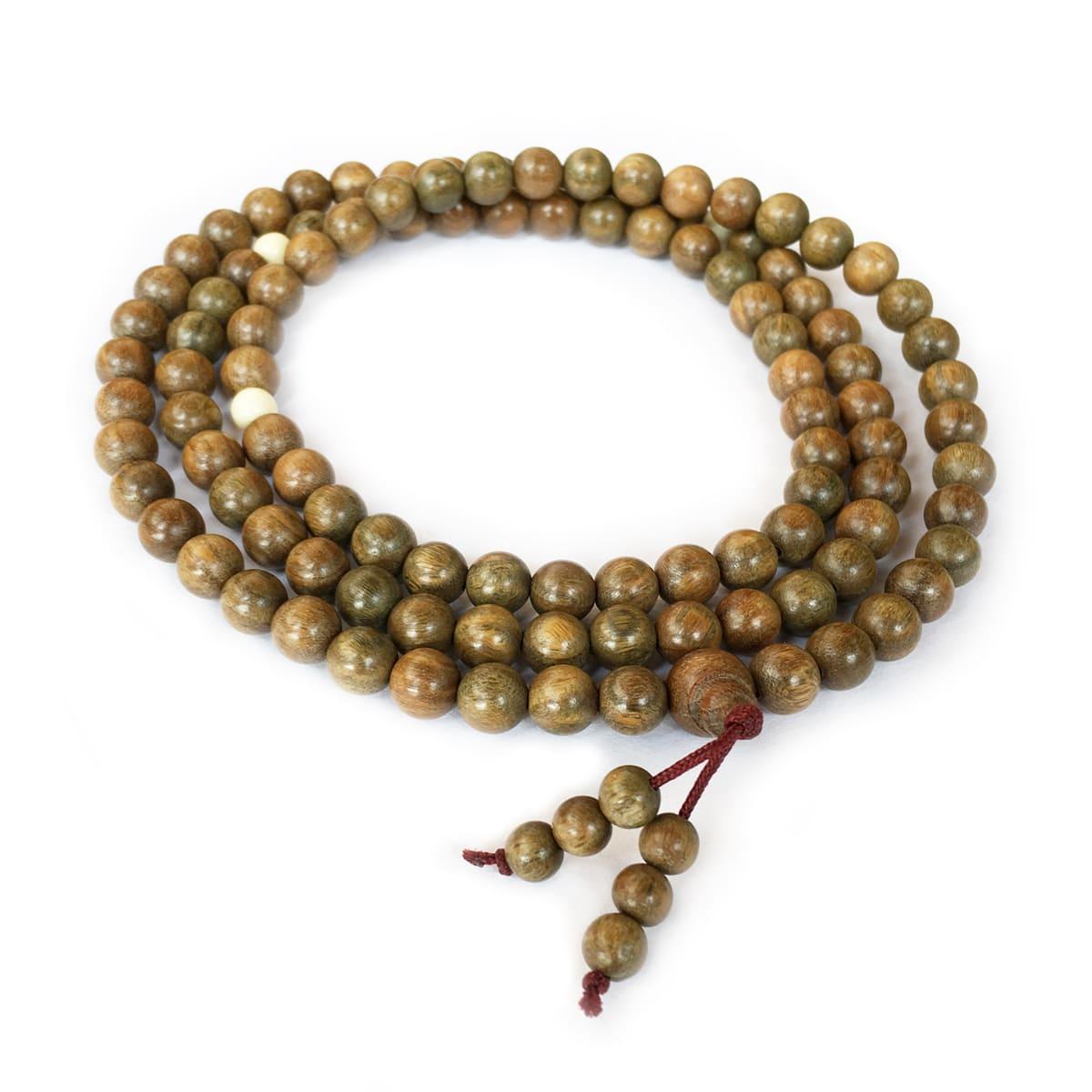 Green Sandalwood Mala 108 Beads
