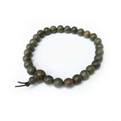 Green Sandalwood Mala 27 Beads