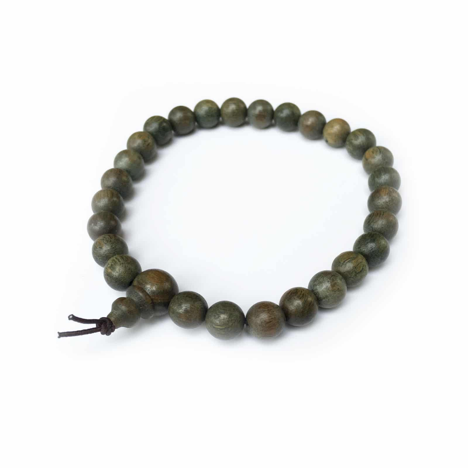 Green Sandalwood Mala 27 Beads