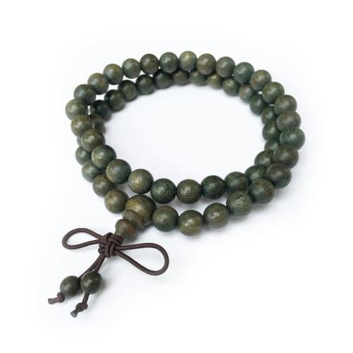 Green Sandalwood Mala 54 Beads